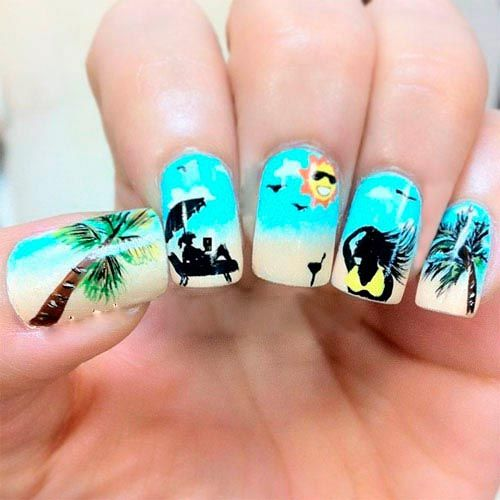80 Rare And Unique Summer Nail Art Which You Wouldnt Have Seen