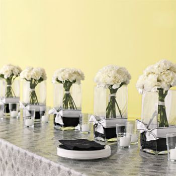 DIY Carnation Centerpieces