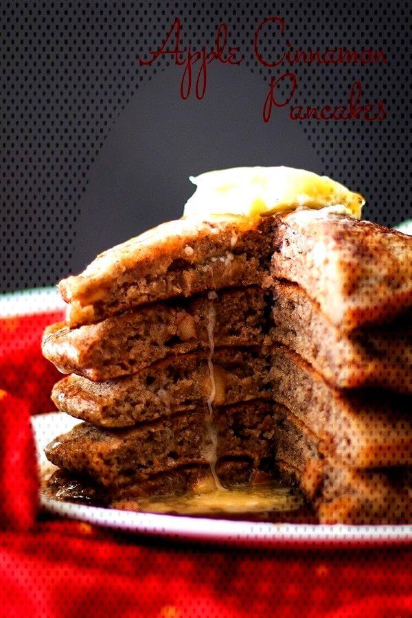 Apple Cinnamon Pancakes Buttermilk and Brown Sugar Recipe-#apple