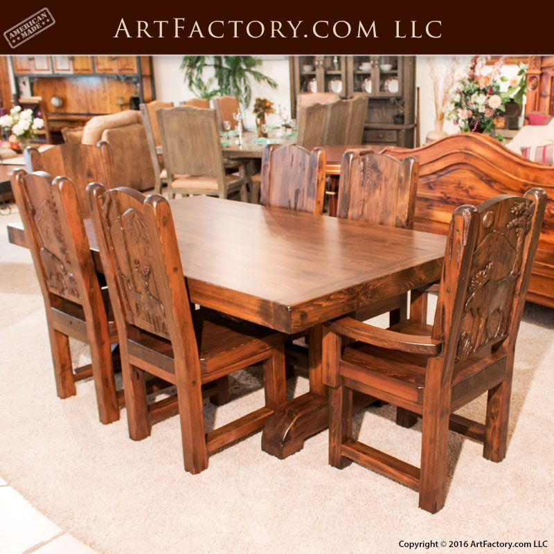 Nothing beats solid wood custom dining furniture