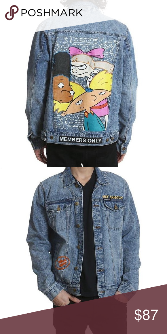 Nickelodeon Hey Arnold Members Only Denim Jacket Nwt My Posh Picks