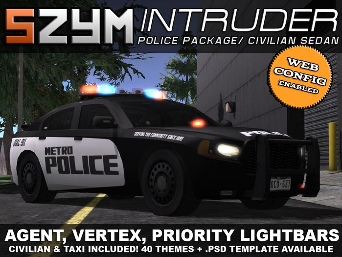 Check Out This Second Life Marketplace Item Police Cars Police Sedan