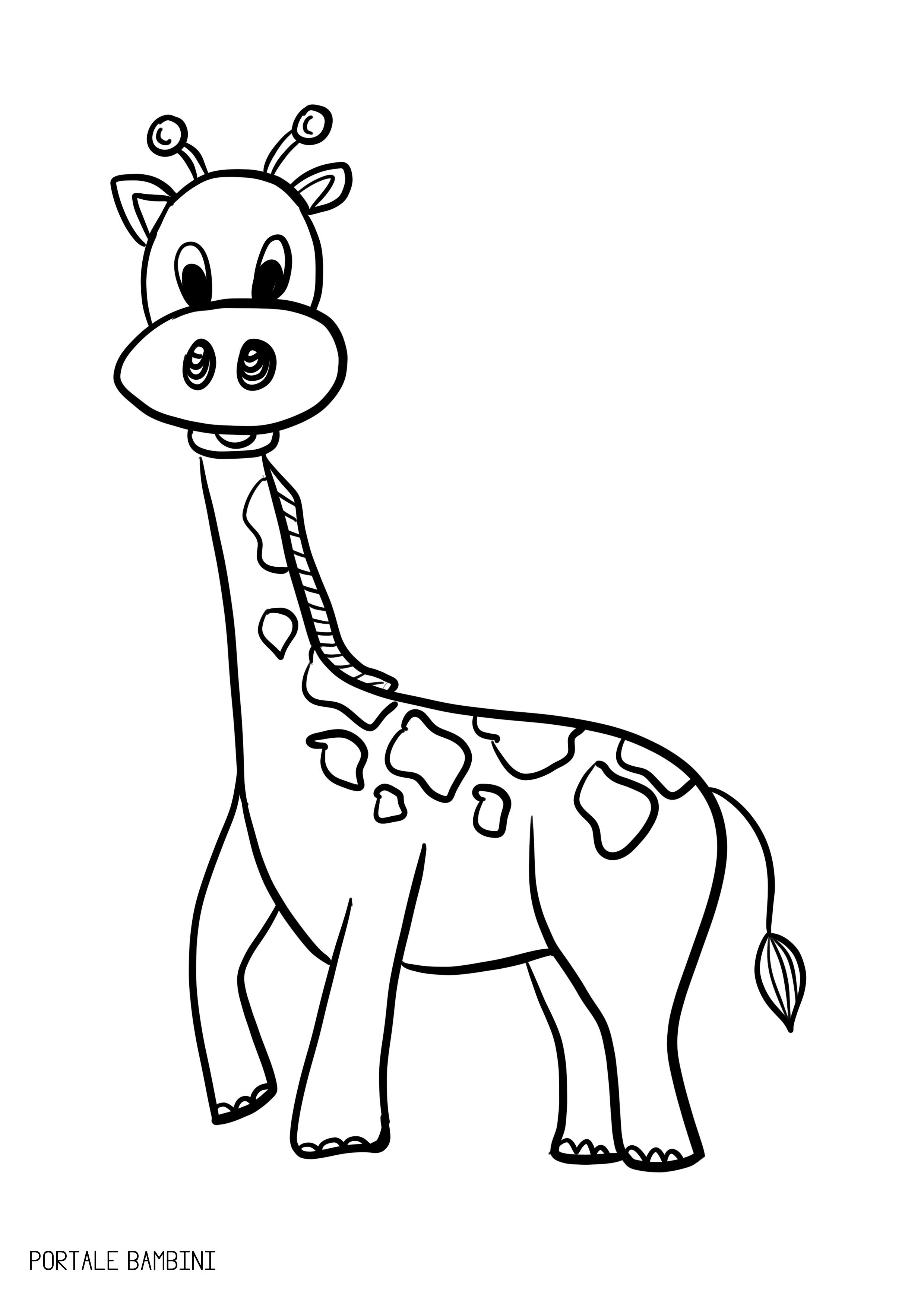 Disegni Di Giraffe Da Colorare Zurafa