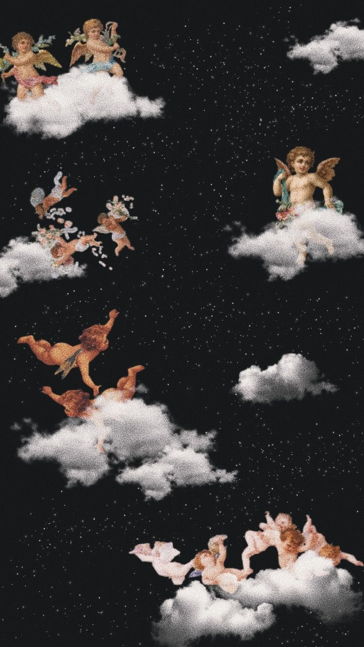 Wallpaper Angels Aesthetic Angel Wallpaper Iphone Wallpaper Art Wallpaper Iphone