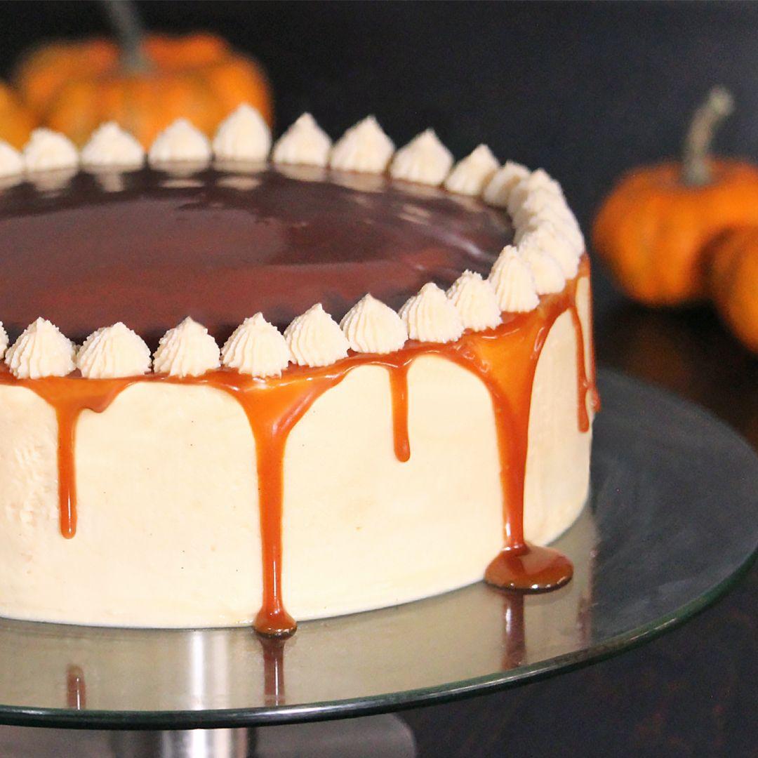 Pumpkin Spice Caramel Cake -   17 desserts Caramel cream cheeses ideas