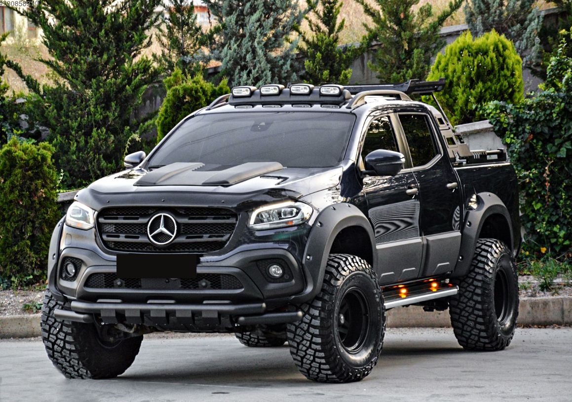 Lifetd Beast Mercedes X Class Equiped Wit Fender Flares Scoop Bonnets And Body Cladding By Germansell Car Dream Cars Mercedes Mercedes Truck Mercedes 4x4
