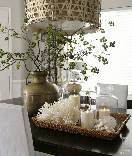 Large Vase Centerpieces Dining Room