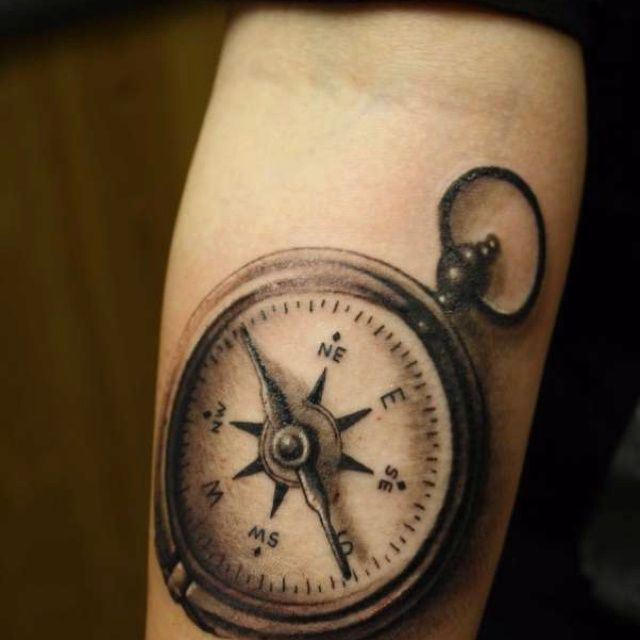 Vintage Venom Tattoo Thoughts: Pocket Compass Tattoo
