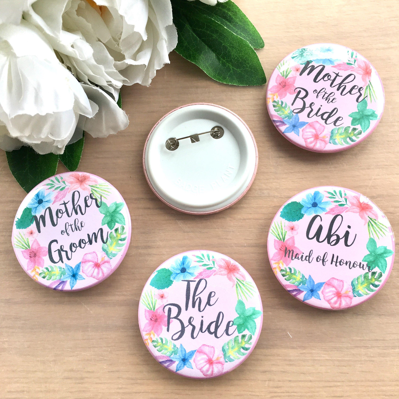 Hens Party Wedding Bridesmaid Maid Honor Decoration WHITE Badges TEAM BRIDE