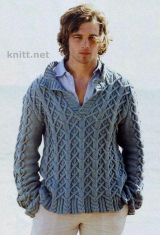 Suéter que hace punto para los hombres está hecho de patrones de ...