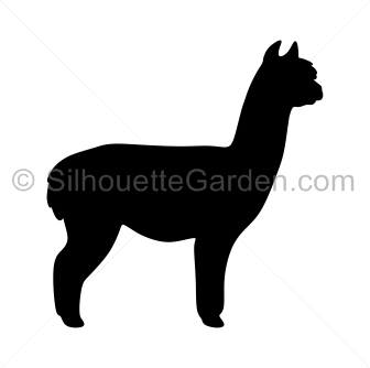 alpaca silhouette clip art download free versions of the image in rh pinterest com alpaca clip art black and white alpaca clip art images