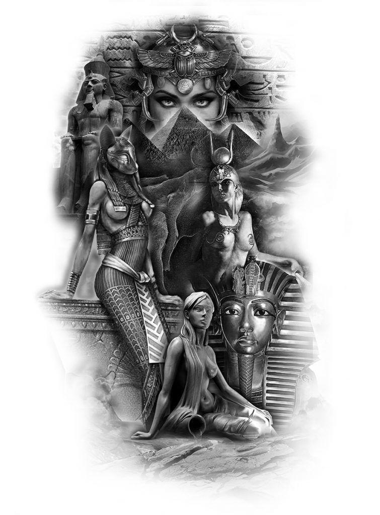 Columbus Custom Tattoo Designs: Ägypten Tattoo, Anubis