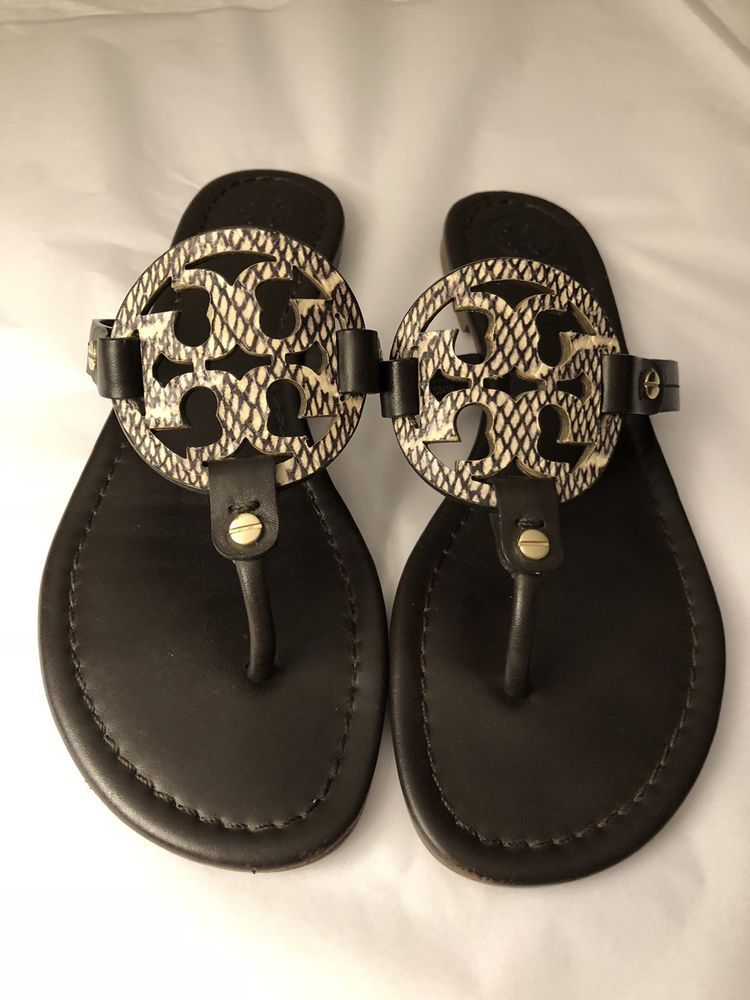 7550d96afd9103 Tory Burch  Miller  Flip Flop Leather Sandal 8M Brown  fashion  clothing   shoes  accessories  womensshoes  sandals (ebay link)