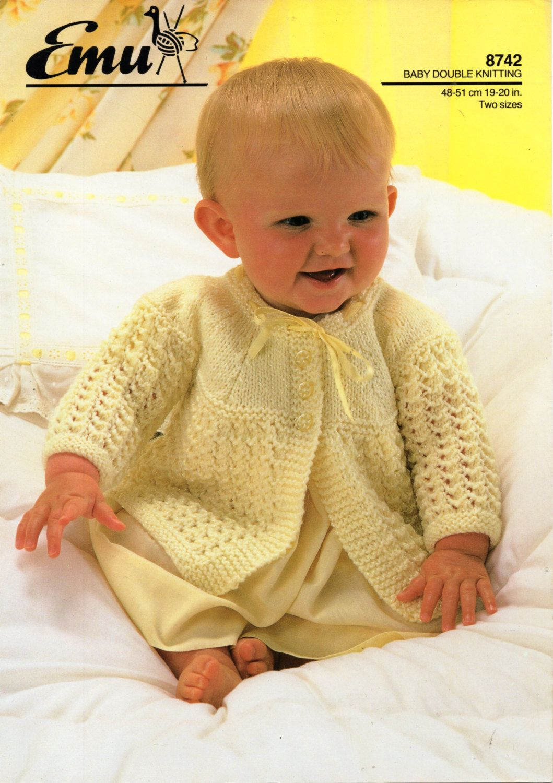 e8d7e92f2 baby matinee coat knitting pattern PDF baby matinee jacket lacy ...