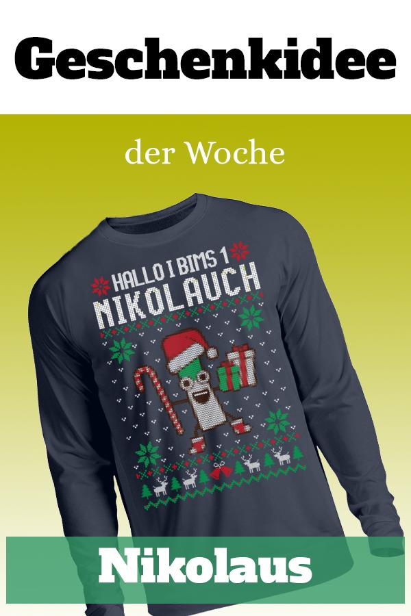 I bims 1 Nikolauch #nikolausgeschenkkollegen Kultiges Nikolausgeschenk -  I Bims-Pullover extra ugly. Die perfekte Geschenkidee für Mann, Frau, Herren, Damen, Jungen, Mädchen, Jugendliche, Teenager, Freund, Freundin, Kollege, Kollegin, Sohn oder Tochter. #nikolausgeschenkmann