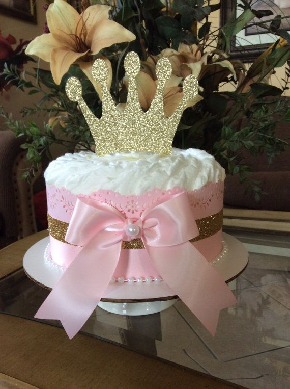 Princess Baby shower centerpiece/Pink and gold by InspiredbyElena
