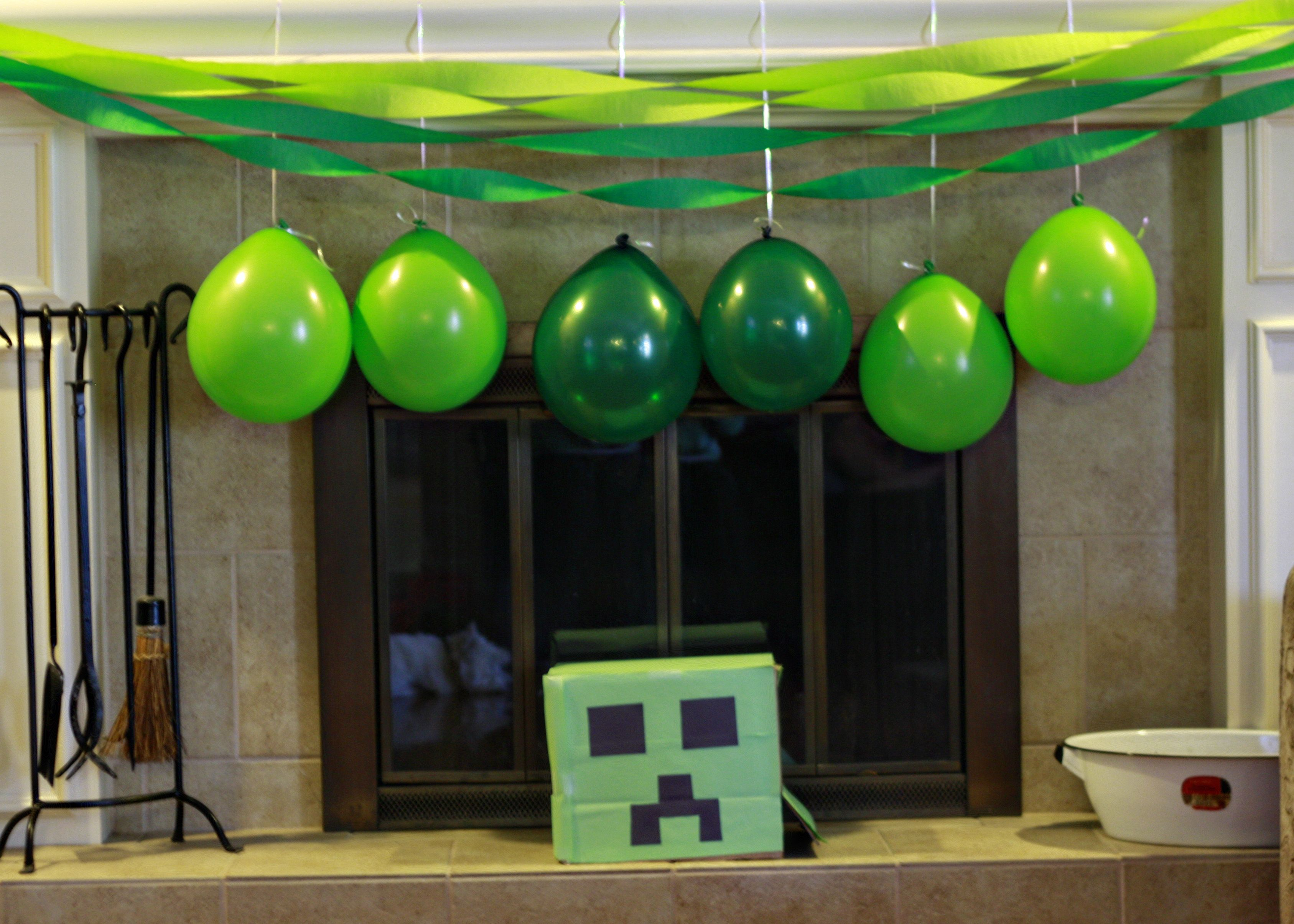 Minecraft Party Decorations Minecraft Party Decorations Minecraft B Day Party Pinterest