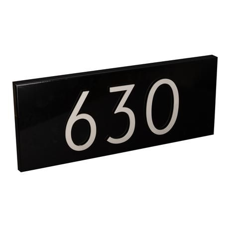 Modern Address Plaque & Aluminum Numbers | Address plaque ...