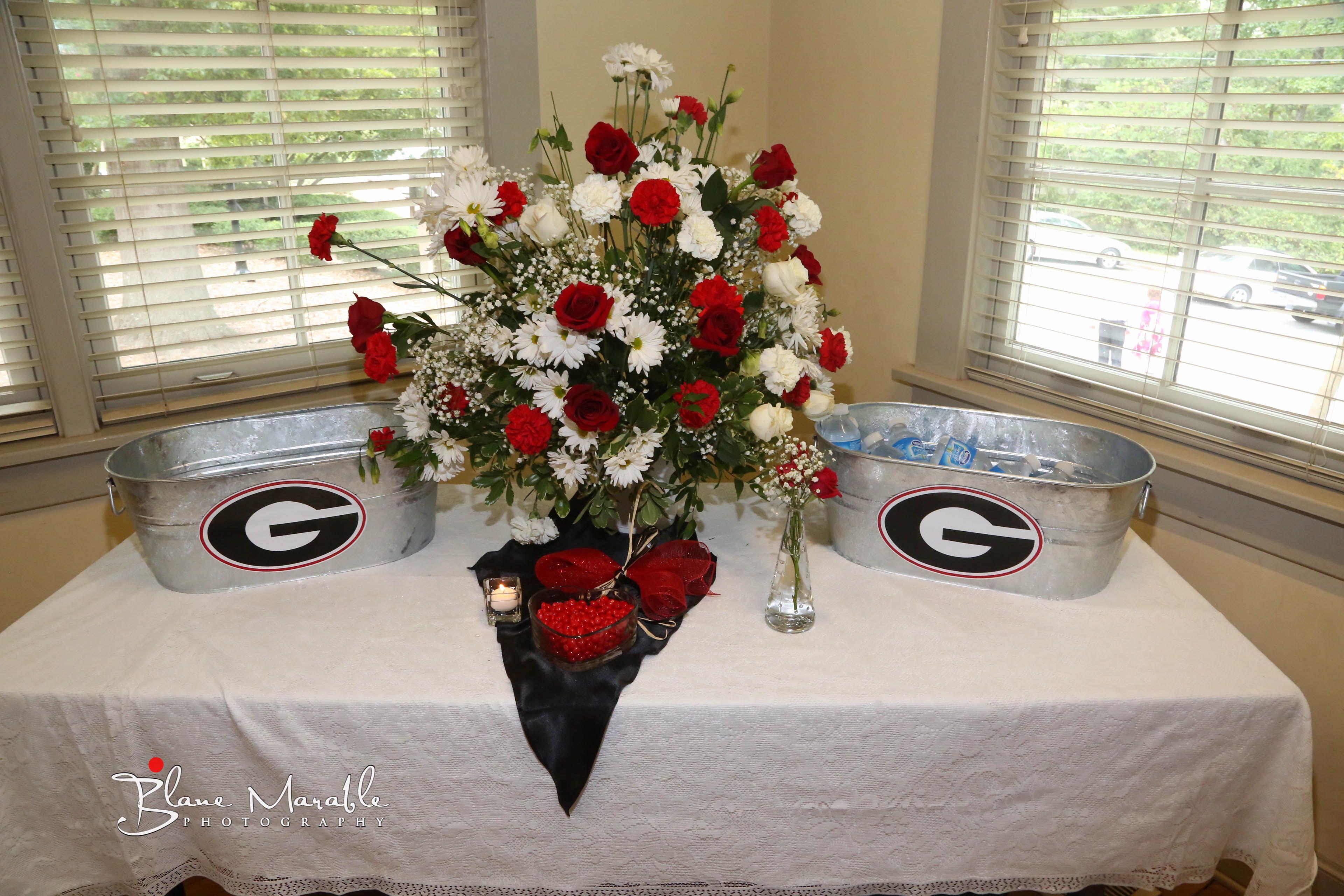 UGA Bulldawg theme wedding. Blane Marable Wedding