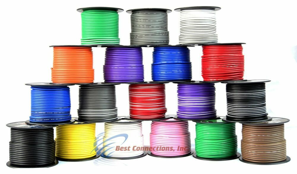 2020 14 Ga Gauge 100 Ft Spools Primary Auto Remote Power Ground Wire Cable Audiopipe In 2020 Audiopipe Power Cable Car Audio