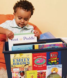 Library in a box for the kiddos