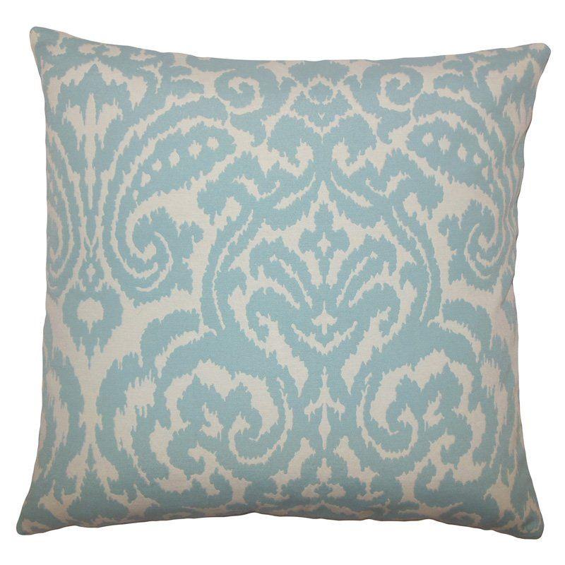 Pillow Collection Ikat Print Decorative Pillow Sky - P18-BAR-MER-M9792-SKY-C75P25