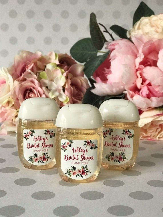 Floral Hand Sanitizer Labels Baby Shower Favor By Wildsugarberries