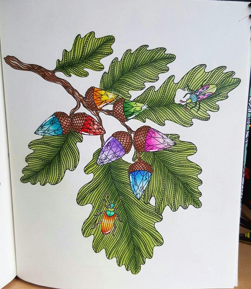 Coloured By Leanne Heeley. Gem-corns! Book: Dagdrömmar Medium: caran d ache luminance and polychromos