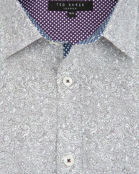 33cb244f1 Paisley print shirt - White