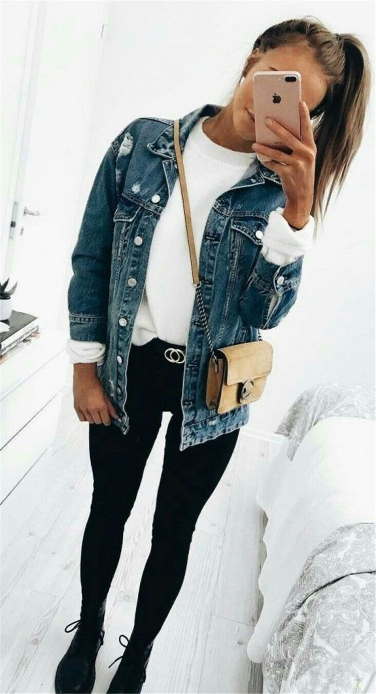 50 Cute And Trendy Fall Outfits Ideas For School - Page 29 of 50 #falloutfits2019trends