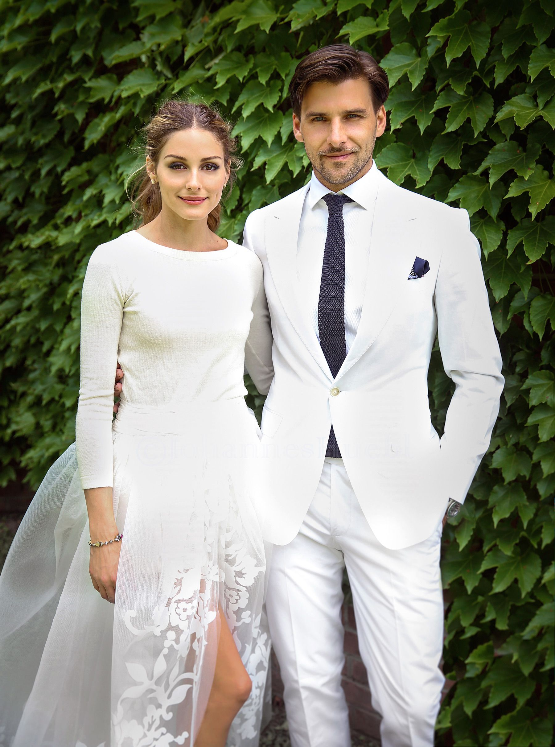And The Bride Wore Shorts Details On Olivia Palermo S Wedding Day Style Celebrity Wedding Dresses Wedding Dress Long Sleeve Two Piece Wedding Dress