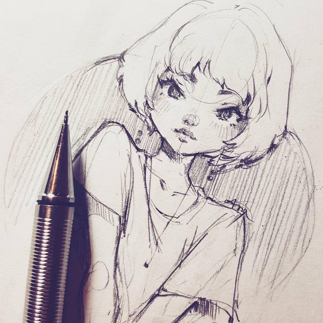 Fille Manga Ink Anime Art Dark Cartoon Art Anime Art Tutorial