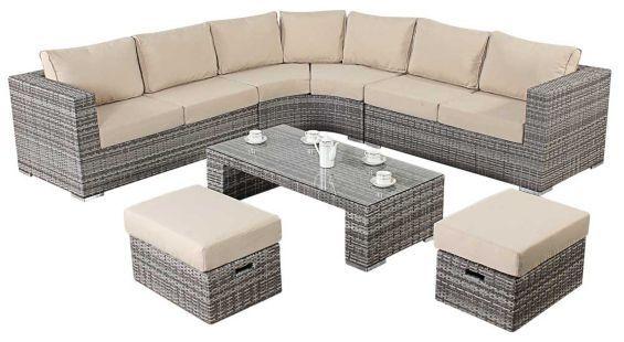 Tesco Direct Luxan Wgf 403 Port Royal Luxe Rustic Round Corner Sofa Corner Sofa Round Corner Tesco Direct