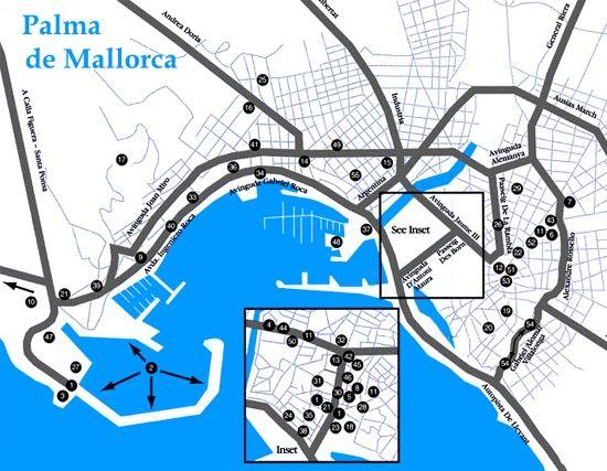De map palma mallorca Palma Map: