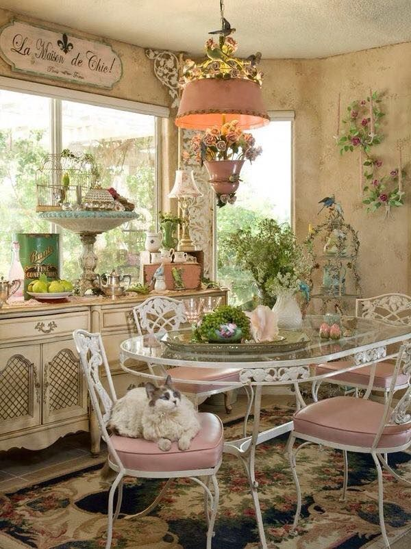 Image Result For Cottage Chic Decor  Pink And Green  Pinterest Unique Shabby Chic Dining Room Decor Inspiration