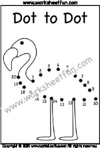 Dot To Dot Swan Numbers 1 20 One Worksheet Dot To Dot