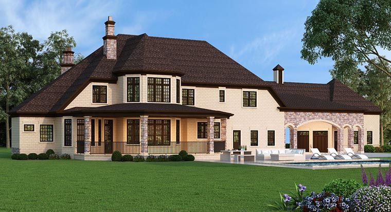 French Country Style House Plan 72226 With 5 Bed 5 Bath 5 Car