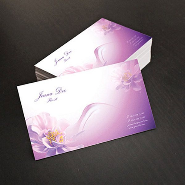 business card illustrator template