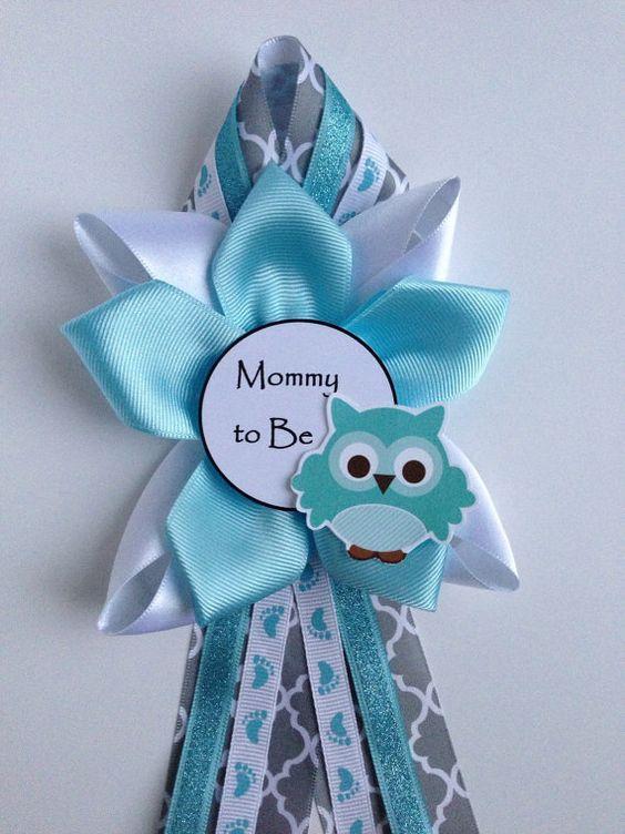 Manualidades para un baby shower de ni o distintivos - Detalles para baby shower ...