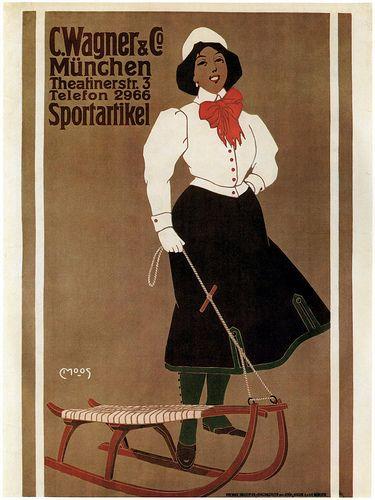 Carl Moos. Wagner Shop ad. 1907
