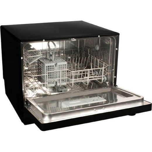Koldfront Countertop Dishwasher 6 Setting Black Compact Portable