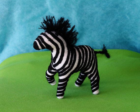 Waldorf Zebra (Extra Stripes), Handmade From Natural Materials