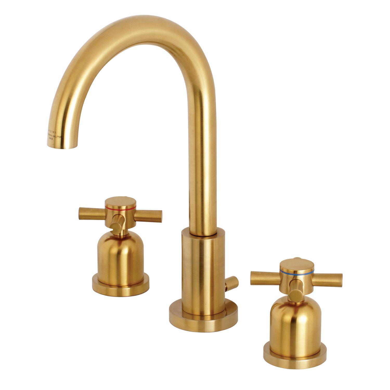 Fauceture Fsc8923dx Concord Widespread Bathroom Faucet Brushed Brass Kingston Brass Brass Bathroom Faucets Widespread Bathroom Faucet Bathroom Faucets