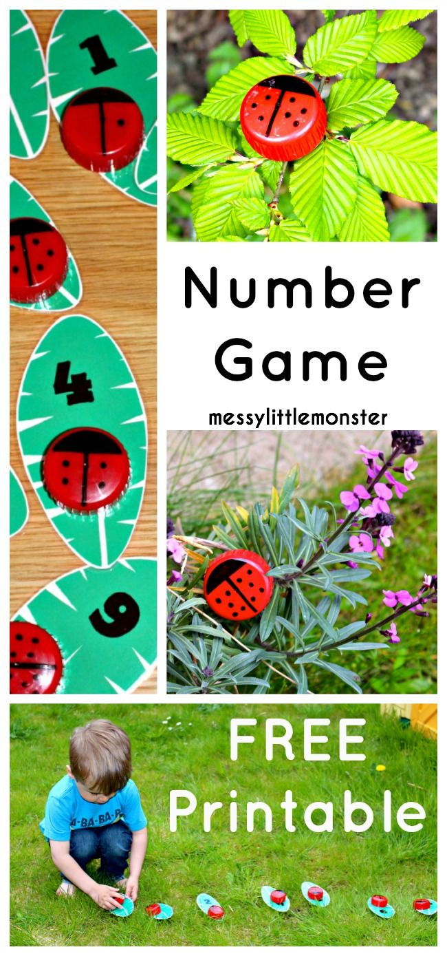 Learn to Count Ladybird Craft | Free printable numbers, Printable ...