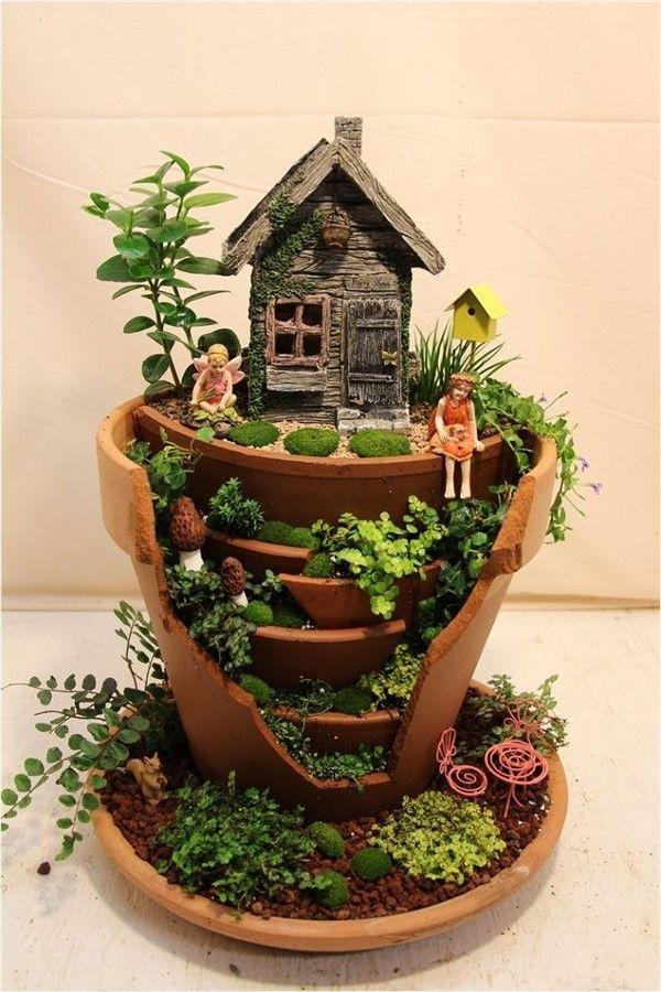 Photo of Charming Fairy Garden Ideas with Broken Pots – Unique Balcony & Garden Decoratio…