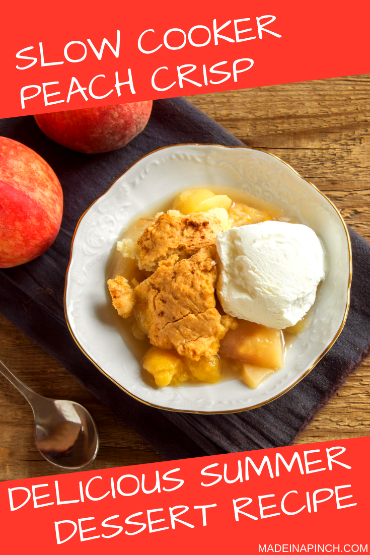 Slow Cooker Peach Crisp images