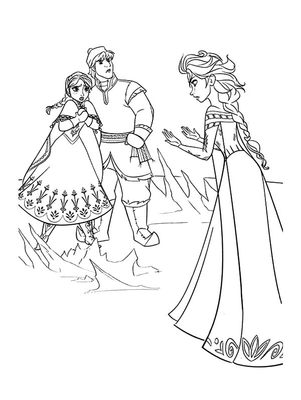 Queen Elsa Doen Not Mean To Hurt Princess Anna And Kristoff Coloring Pages Best Place To Color Elsa Coloring Pages Elsa Coloring Frozen Coloring Pages