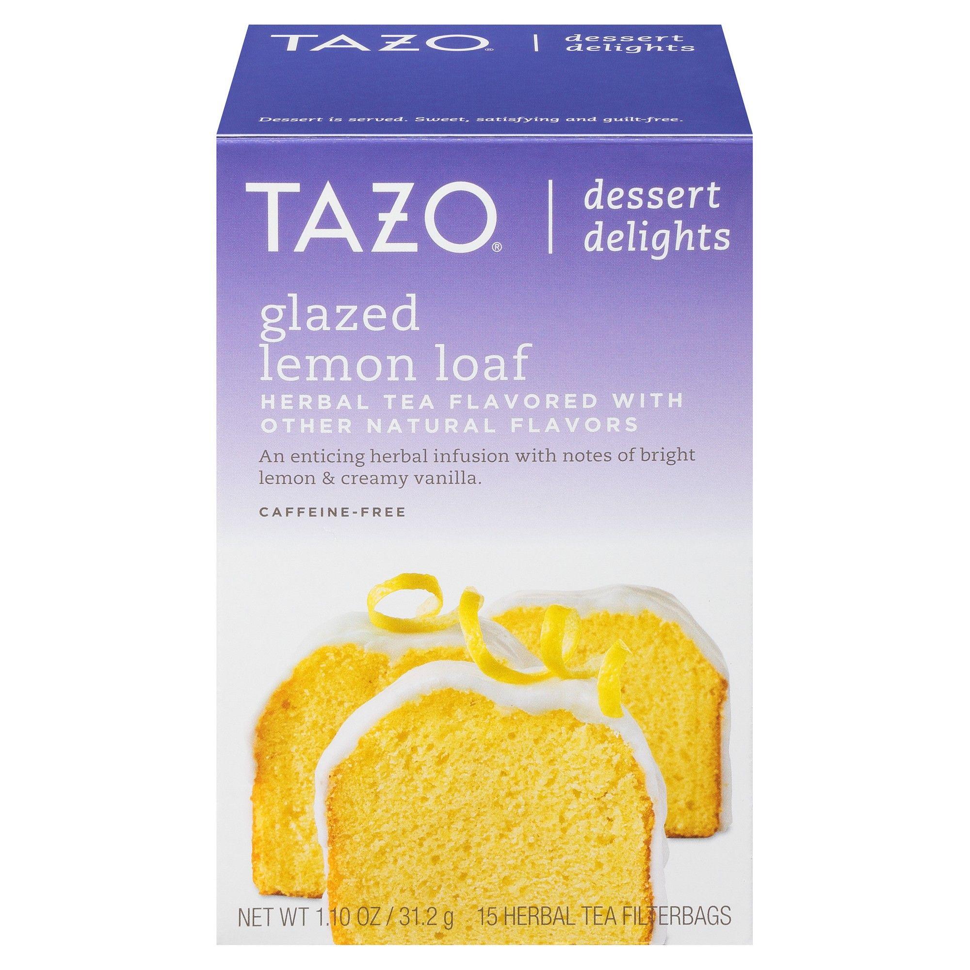 Summer Wedding Food: Tazo Glazed Lemon Loaf Dessert Delights Tea Bags