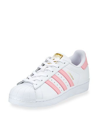 newest ca079 17559 Women s Designer Sneakers at Neiman Marcus. Superstar+Original+Fashion+ Sneaker,+White Pink+by+Adidas+at+Neiman+Marcus.