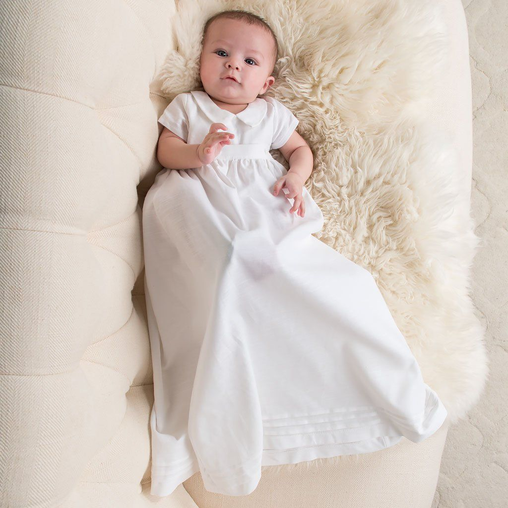 00324a0eb Henry Convertible Christening Gown & Romper Set Baptism Gown Boy, Boy  Christening Outfit, Christening